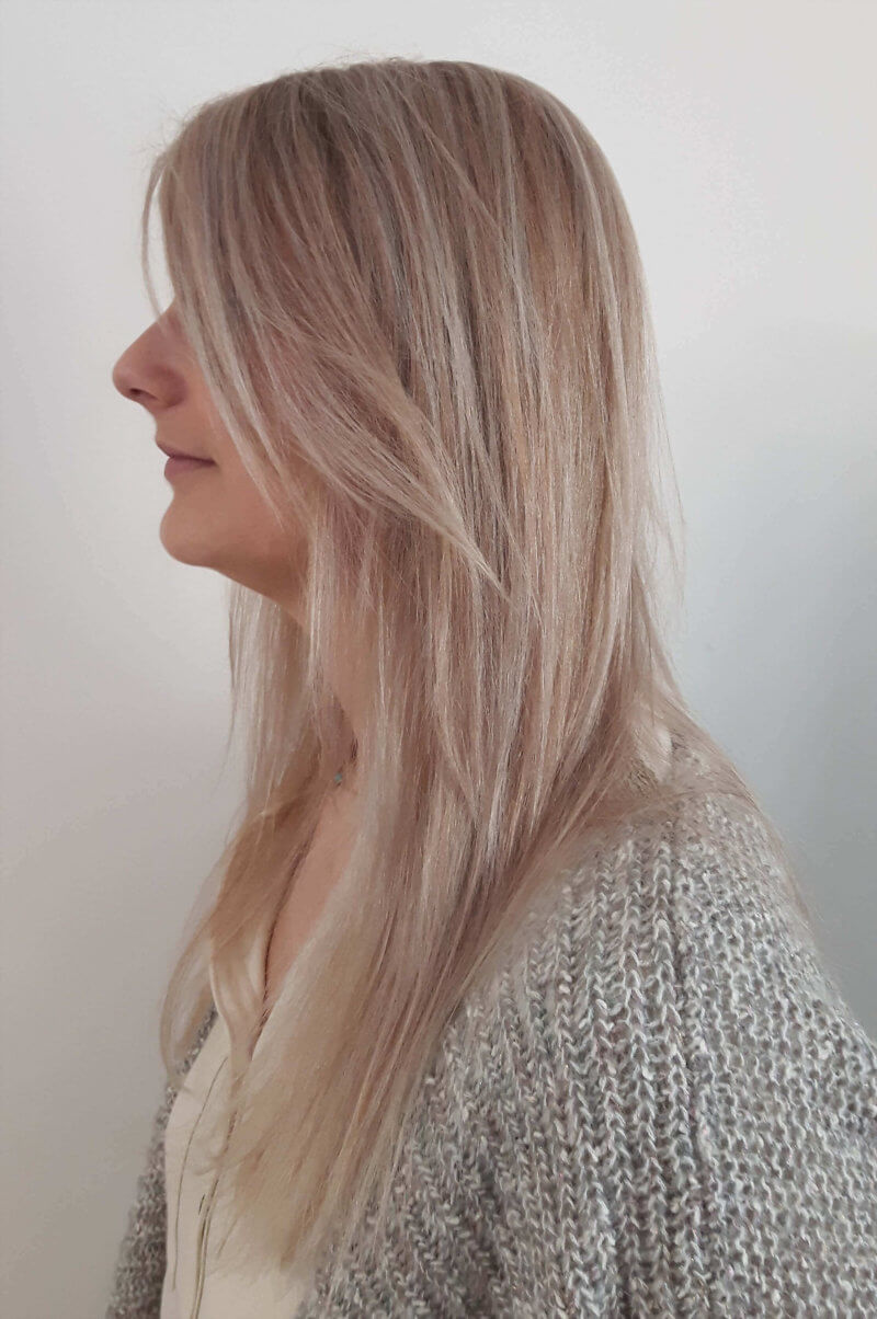 mèches blondes femme